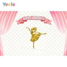 Yeele Vinyl  Golden Dance Curtain Baby Girl Birthday Party Photography Background Princess Photographic Backdrop Photo Studio