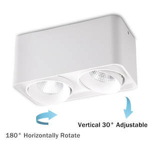 Image 3 - [DBF]Square White/Black No Cut Surface Mounted Ceiling Downlight High Power 10W 12W 20W 24W Ceiling Spot Light 3000K/4000K/6000K