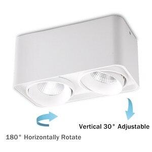 Image 3 - [DBF] carré blanc/noir sans coupe plafonnier monté en Surface haute puissance 10W 12W 20W 24W plafonnier 3000K/4000K/6000K