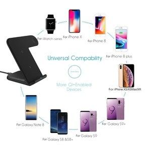 Image 5 - 2 In 1 şarj standı istasyonu için Apple izle 5 4 3 2 Airpods Qi kablosuz şarj standı telefon tutucu iPhone 11 XS Max XR X 8