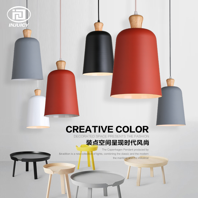 Nordic Modern LED Pendant Lamp Single Head Solid Wood Ceiling Light Bedroom Restaurant Decorative Hanging Lamps arte lamp потолочный светильник arte lamp cosetta a6211pl 6go