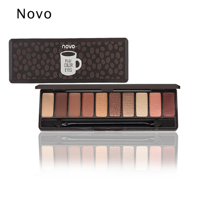 NOVO Professional Eyeshadow Palette Matte EyeShadow Palette Glitter Eye Shadow MakeUp  MakeUp Set Korea Cosmetics