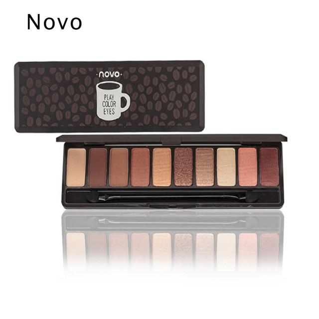 NOVO profesional paleta de sombra de ojos mate brillo sombra de ojos maquillaje Corea cosméticos