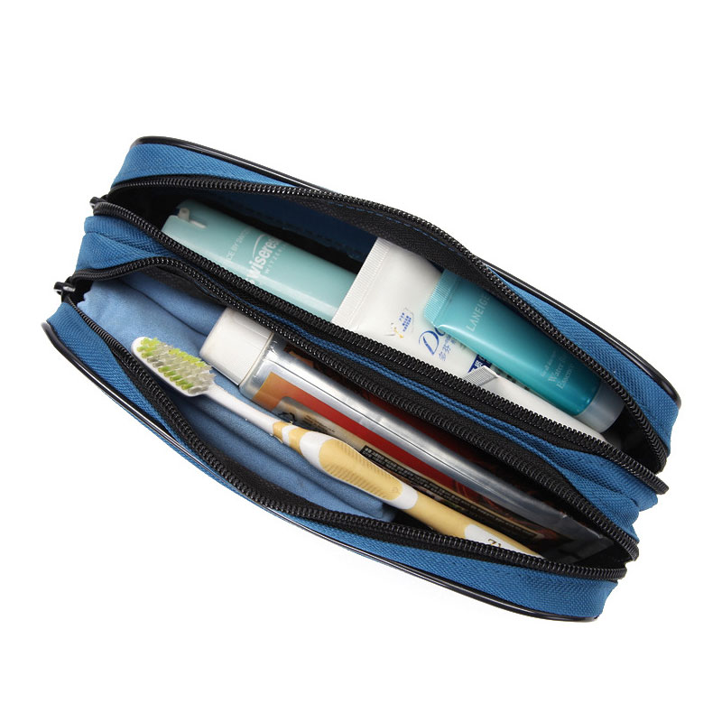 Double Layer Toothbrush Toothpaste Toiletry Stored Cosmetic Bag Make Up Case Portable Makeup Storage Wash Bags for Women Men spark storage bag portable carrying case storage box for spark drone accessories can put remote control battery and other parts