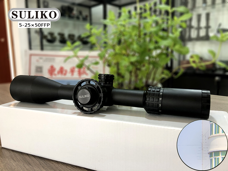 SULIKO 5-25×50 FFP Riflescope Adjustable Green Red Dot Hunting Light Tactical Scope Reticle Optical Rifle Scope