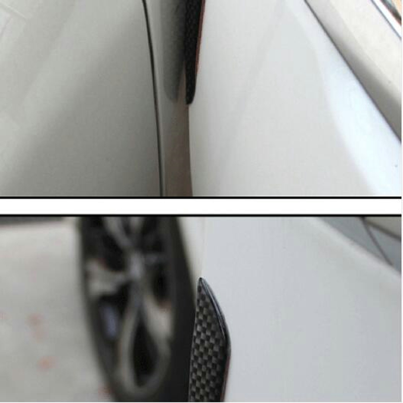 Set//4Pcs Car Door Edge Guard Scratch Protector Strips Moulding Bumper Strips