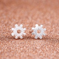 silver-plated Lotus earrings for women Hot 925 Pendientes Plata declaration girls gift statement jewelry earring