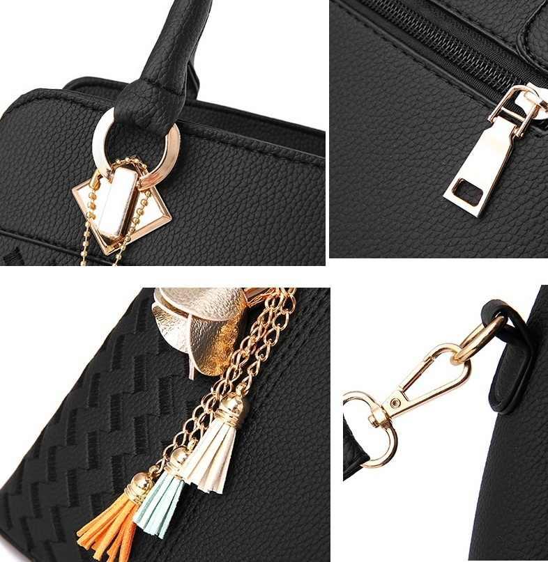 ファッション女性のパターンハンドバッグ本革のバッグ 2019 ショルダーチェーンバッグカジュアル女性のメッセンジャーバッグN258
