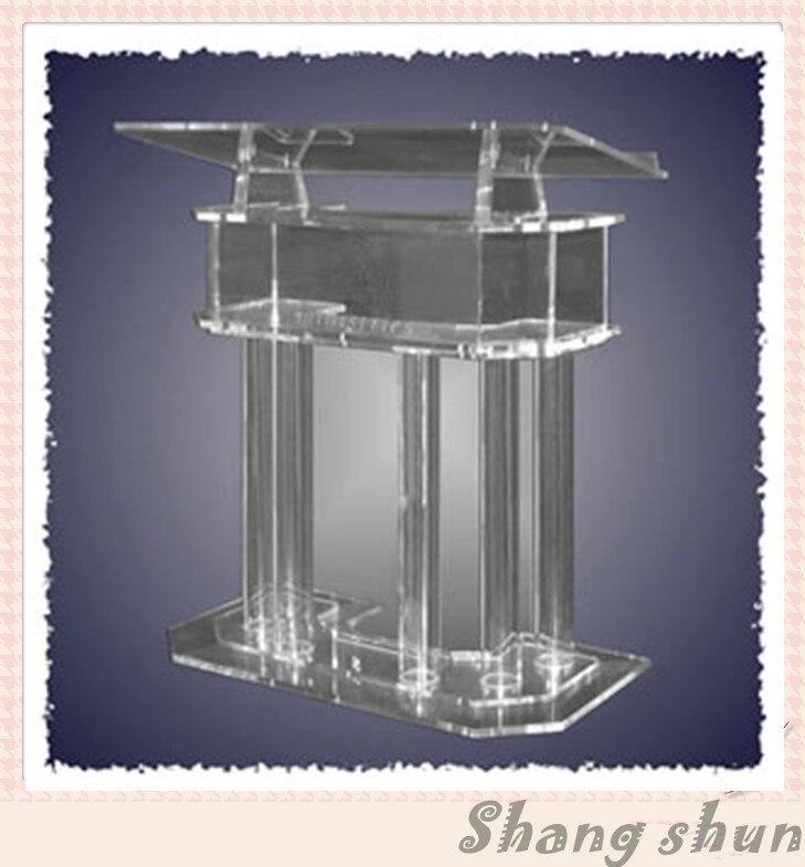 Clear Lectern, Church Pulpit, Acrylic Podium Pulpit Lectern