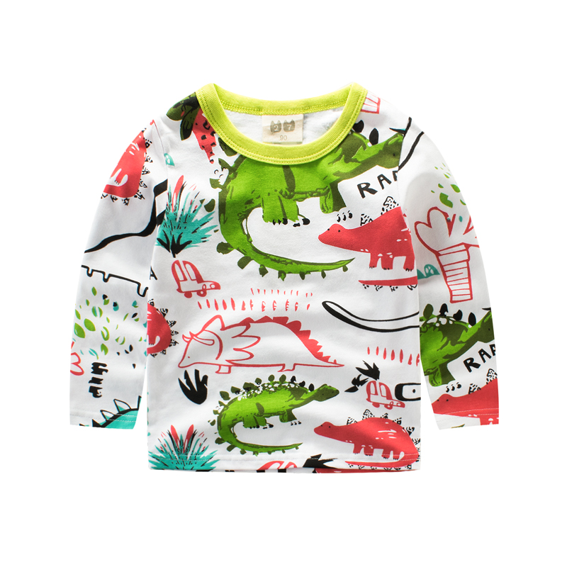 Long tshirt for boy baby girl long sleeve tops funny dinosaur girls t shirt Children's clothing boys t-shirt kids clothes shirts матрас roll matratze frau elza 120x190