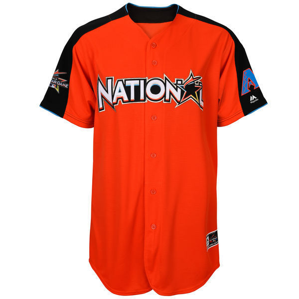 MLB Mens National League Jake Lamb Orange 2017 MLB All-Star Game Home Run Derby Player Jersey