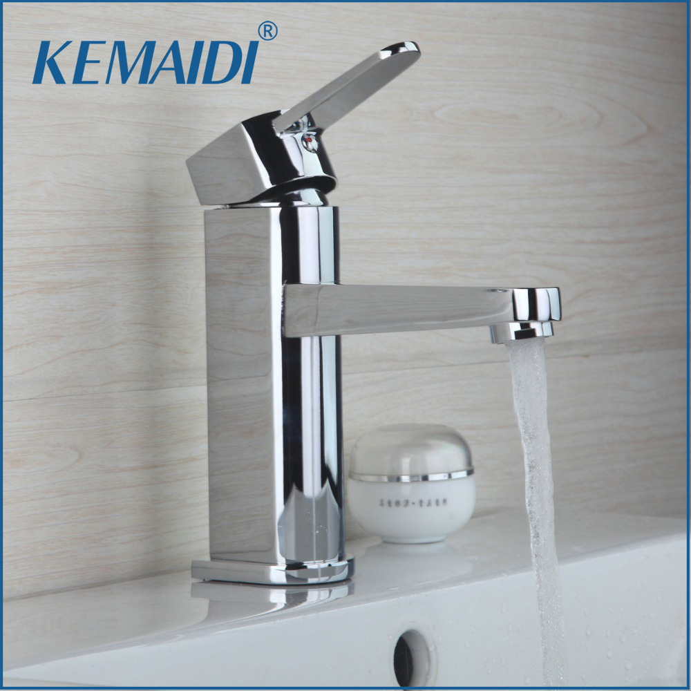 KEMAIDI Deck Mount Single Handle Shivers Bathroom Waterfall Basin Sink Polished Chrome Vessel Vanity Torneira Mixer Tap Faucet led waterfall bathroom basin faucet dual handle vanity sink mixer tap deck mount