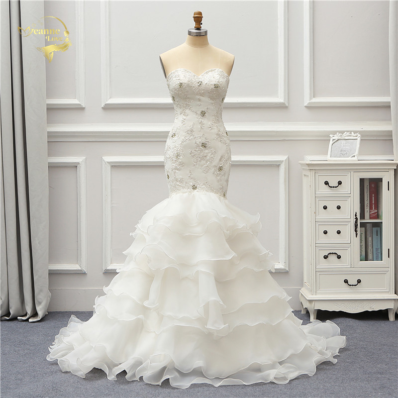 Jeanne Love Organza Wedding Dress 2019 Applique Robe De Mariage JLOV75999 Mermaid Vestido De Noiva Brida