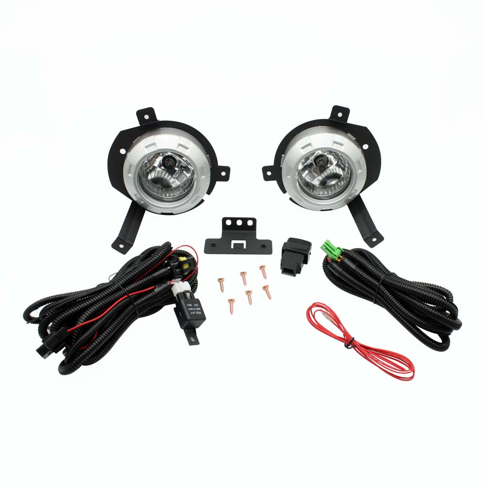 Front Fog Lights For Mitsubishi Triton L200 2006 2007 2008 Car Styling Spot Light Fog Lamps With Switch 2pcs car fog lights lamp for mitsubishi triton 2 door 2009 on clear lens pair set wiring kit fog light set free shipping