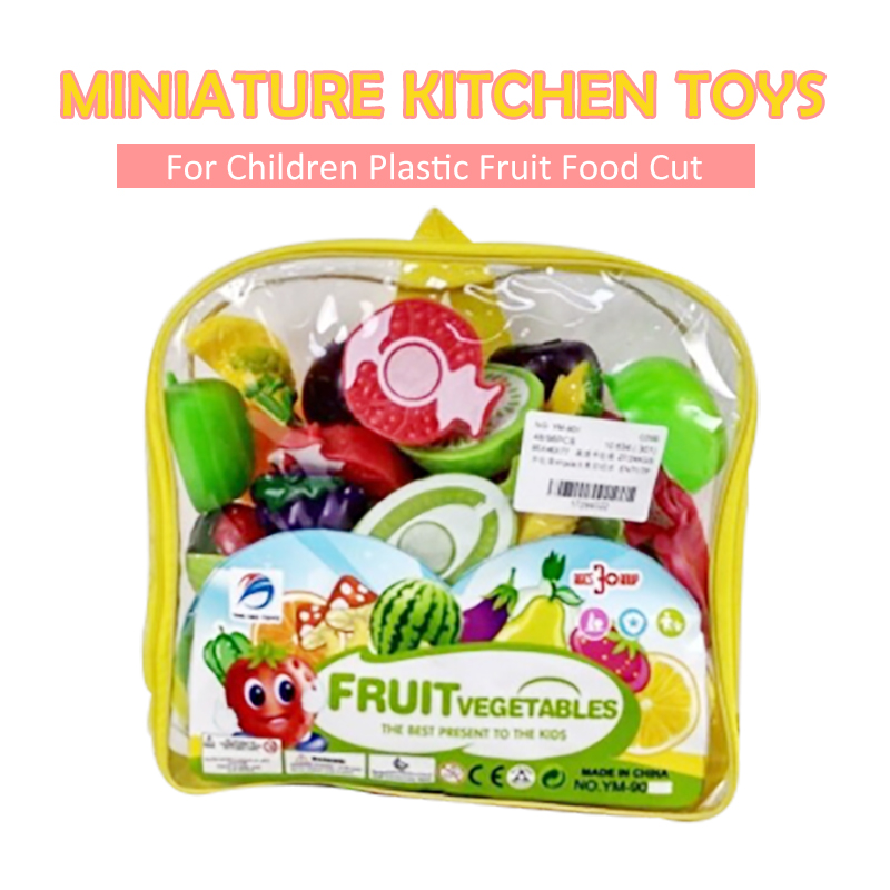 Miniature Kitchen Toys For Children Plastic Fruit Food Cut Pretend Play Home Boys Girls Game Kids Education Share Toy For Baby baby miniature kitchen plastic pretend play food children toys with music light kids kitchen cooking toy set for girls games hot