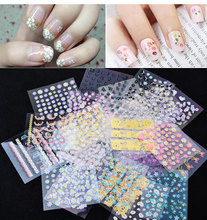 10pcs/set 3D Nail Art Stickers Decal DIY Decoration Transfer Manicure Tips Random Pattern Fashion Accessories Decoration