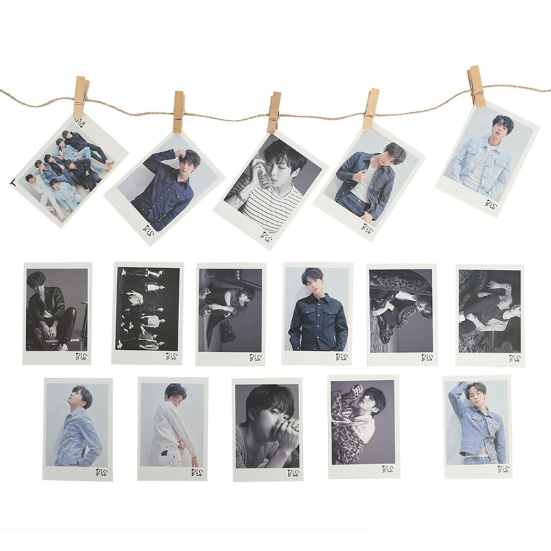 LOVE YOURSELF 16pcs/set Bangtan Boys Card Photocard Self Made LOMO K-POP B-T-S Album Photo Card ...