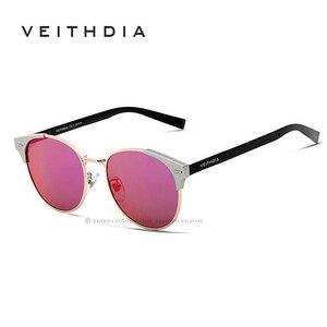 Image 5 - VEITHDIA Unisex Retro Aluminum Brand Sunglasses Polarized Lens Vintage Eyewear Accessories Sun Glasses Oculos For Men Women 6109