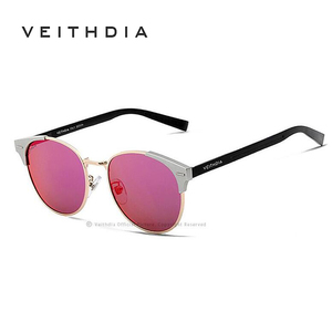 Image 5 - Солнцезащитные очки унисекс VEITHDIA, брендовые винтажные алюминиевые очки с поляризационными стеклами, для мужчин и женщин, модель 6109,