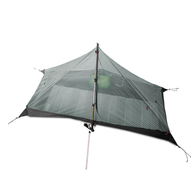 2018 LanShan 1 3F UL GEAR 1 Person Oudoor Ultralight Camping Tent 3 Season Professional 15D Silnylon Rodless Tent3