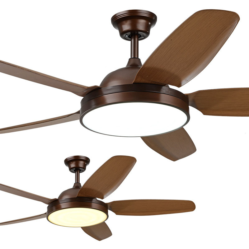 Generous Loft Fan Chandelier Retro Dining Room Household Electric Fan Mute Led Remote Leaf Fan Lamp Ceiling Fans