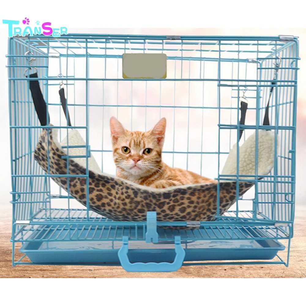 Transer Caldo Appeso Gatto Letto Zerbino Morbido Amaca Inverno Amaca Pet Gattino Gabbia Letto Copertura del Cuscino Cuscino NAVE di GOCCIA F2e30
