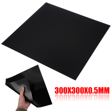 1pc High Quality ABS Plastic Sheet 300*300*0.5mm Flexible Smooth Back Black Piecefor Car Audio Installation Parts