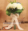 2017 Cheap Wedding/Bridesmaid Bridal Bouquet Romantic White Beautiful Colorful Handmade Artificial Bouquets bouquet de mariage