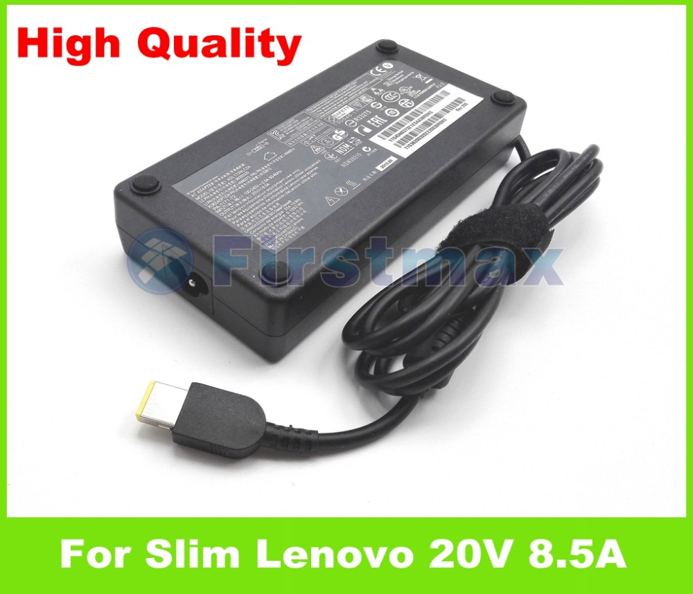 Slim 20V 8.5A laptop ac adapter charger for Lenovo ThinkPad W550 W550s 45N0376 45N0487 45N0514 45N0560 ADL170NLC2A ADP-170CB AA