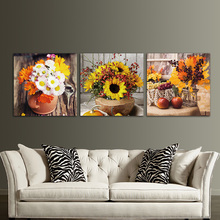 Canvas Paintings Wall Decorations Artwork Modular 3 Panels Unframed Photo Prints Flower Vase Art Picture