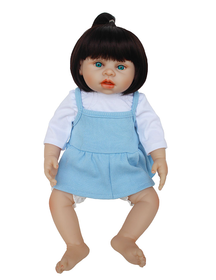 43cm Full Silicone Baby Doll 100% Handmade Reborn Babies Lifelike Girl Body for Kids Christmas Birthday Xmas Gift christmas gifts in europe and america early education 100% full body silicone doll reborn babies brinquedo lifelike rb16 12h10