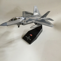 Brand New AMER 1 100 Scale Airplane Model Toys USA F 22 Raptor Fighter Diecast Metal