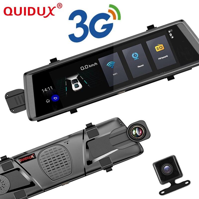 Quidux Новый Android 5.0 автомобилей видеорегистраторы 10 Touch GPS навигаторы FHD 1080 P видеомагнитофон зеркало видеорегистратор WI FI 3G Камара para automovil
