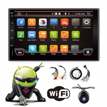 Quad Core 4 Dos 2 Din 7 Pulgadas Android 4.4 Universal Car No Reproductor de DVD con Wifi 3G Host GPS BT RDS USB Espejo Enlace Radio Free Map
