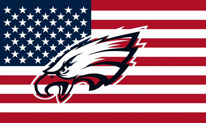 Philadelphia Eagles Hollow Out Shape with US Flag 150X90CM Banner 100D Polyester3x5 FT flag brass grommets 001, free shipping