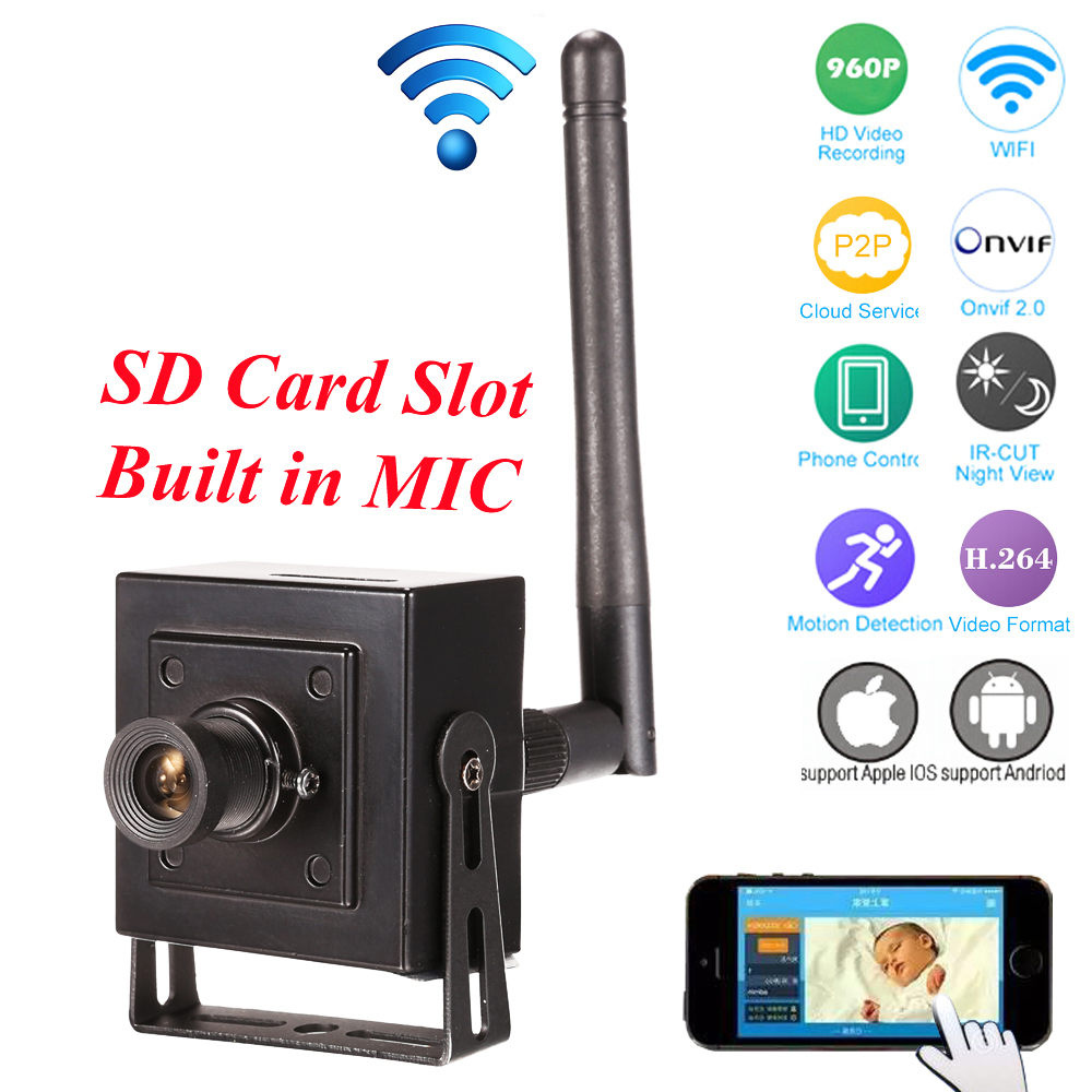 Small Mini IP Camera Wifi HD 960p 720P Wireless CCTV Network Cam Microphone Audio Talk SD Card P2P Support Android iPhone view rovan baja cnc gear box assembly gear component differential general hpi