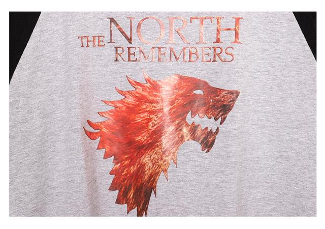The North Remembers Men Raglan T-Shirts  3
