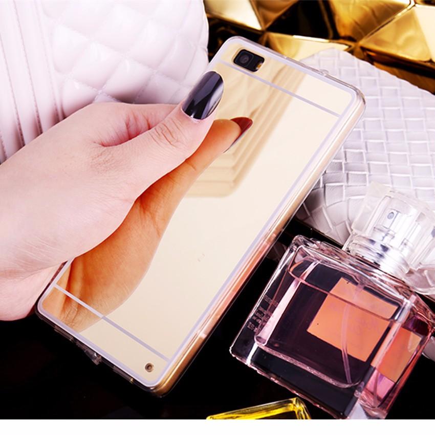Hot! luksus lustro galwanizacja miękkie przezroczysty tpu case pokrywa dla huawei p8/p8 lite p9 p9 plus p9 lite g9 4