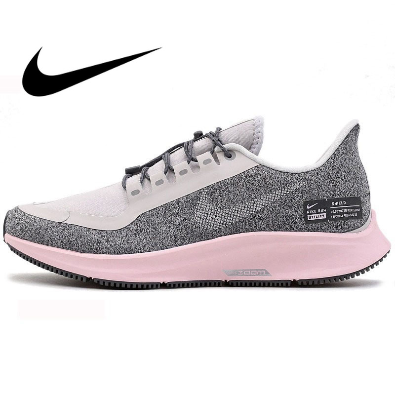 save off 841d2 068f0 US $114.47 45% OFF|Original Official NIKE Brand New Arrival 2019 AIR ZOOM  PEGASUS 35 RN SHLD Women's Running Shoes Sneakers Lace Up Low AA1644-in ...