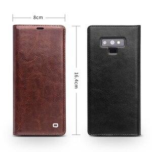 Image 4 - QIALINO אופנה אמיתי עור תיק כיסוי עבור Samsung Galaxy הערה 9 יוקרה Ultrathin כרטיס חריץ מקרה עבור גלקסי הערה 9 6.4 inches