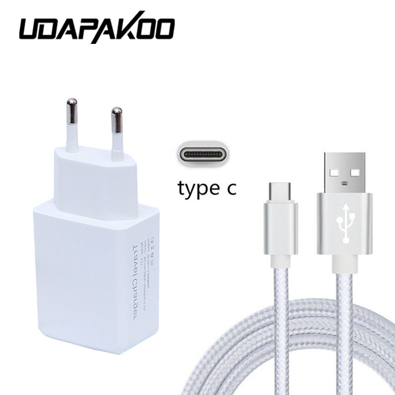 metal plug Type C usb data cable for samsung s8 Huawei P9 p10 plus LG G6 G5 Xiaomi mi5 5s 6 Lumia 950 2A AC Wall Charger adapter