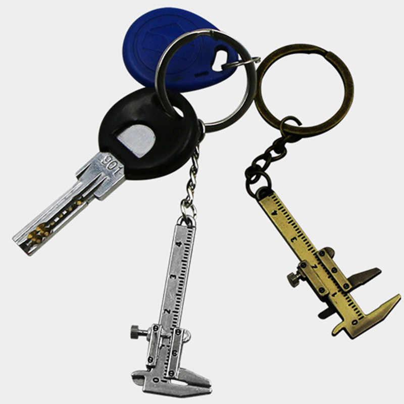 2 個ポータブル測定ゲージツールミニ測定キーリングキャリパー定規ノギス金属自動車キーチェーンのためのベンツ