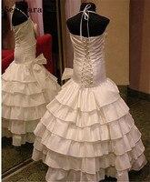 Ivory White Mermaid Flower Girl Dresses Kids Evening Pageant Gowns First Communion Dresses For Girls Vestidos daminha