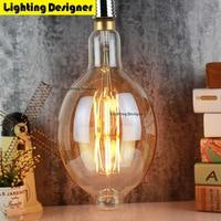 Big BT180 110V E26 6W Led Edison Bulb Dimmable Light Big Size Vintage Led Filament Bulb