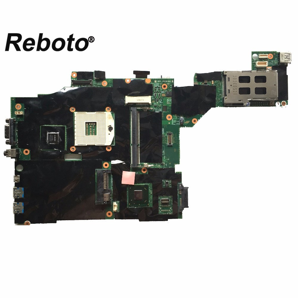 Reboto High quality FOR Lenovo T430 Laptop Motherboard FRU 04W6633 QM77 NVS 5400M 1GB MB 100