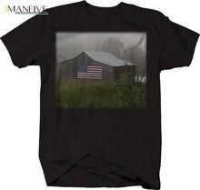 2019 Fashion Hot Classic American Old Barn Flag Country Farming Tshirt Tee shirt