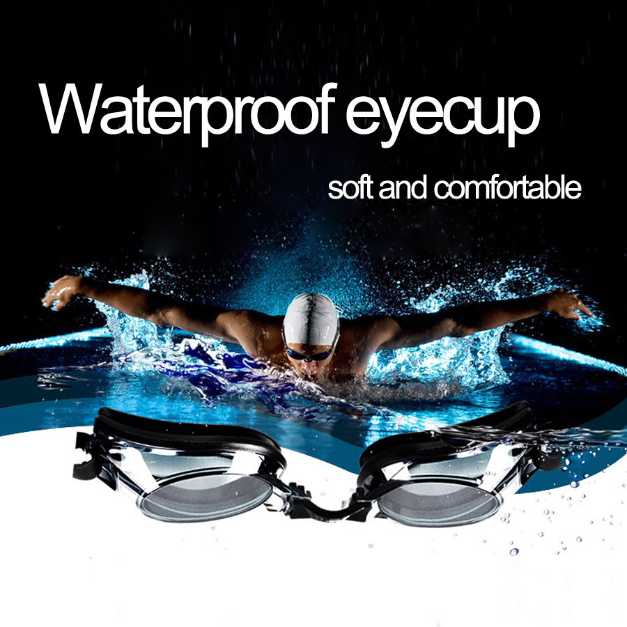 anti-fog uv swimming goggles for myopia with silicone diopters swim sports eyewear