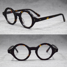 06575d2d27 Hand Made Vintage small 38mm Round Eyeglass Frames Acetate unisex Optic  Myopia Rx able Glasses(