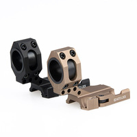 PPT Tan Black Color 6063 Aluminum Material 30mm/25.4MM Ring Diameter QD Quickly Detach Scope Mount HS24 0135