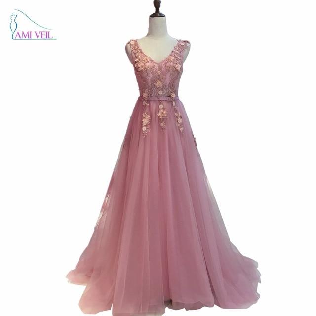 2017 rosa Rot Blau Perlen Spitze Lange Abendkleider Formale kleid ...